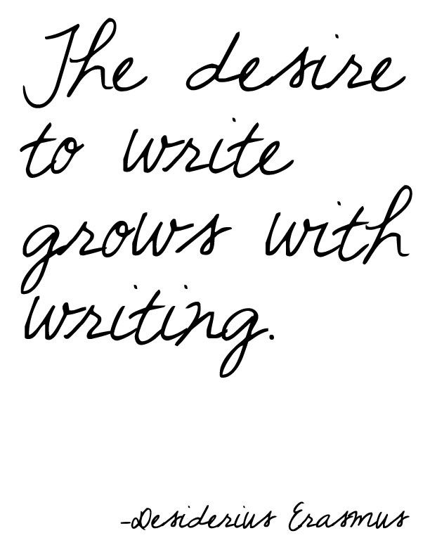 Desire to write by Desiderius