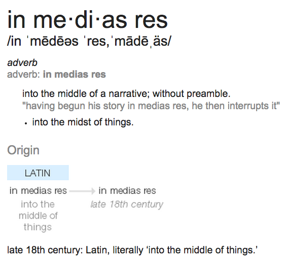 In Medias Res Defined