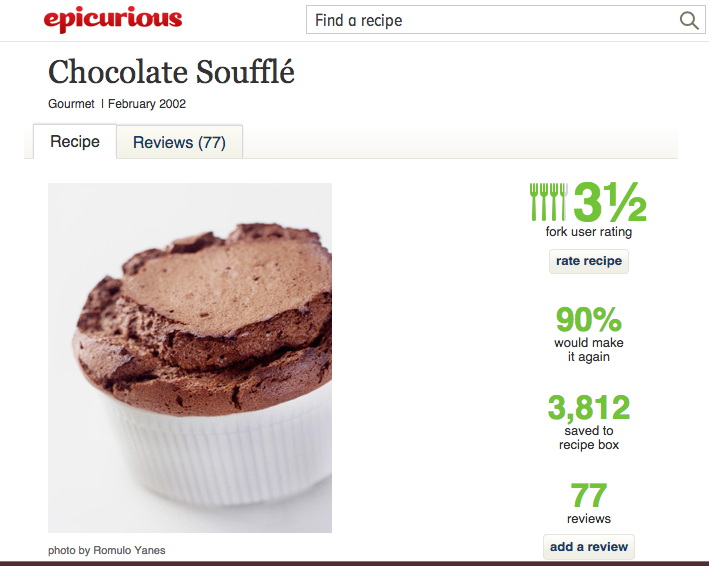 Chocolate Souffle by Epicurious Magazine