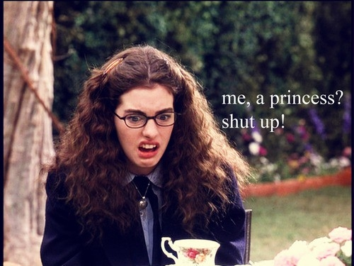 "Anne Hathaway as Mia Thermopolis in ""The Princess Diaries"""