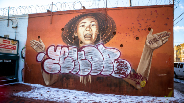 Zexor, graffiti writer and long-time Bushwick resident, would tag his name onto the murals. This instigated a graffiti war, which drew attention to the issues of gentrification in Bushwick.