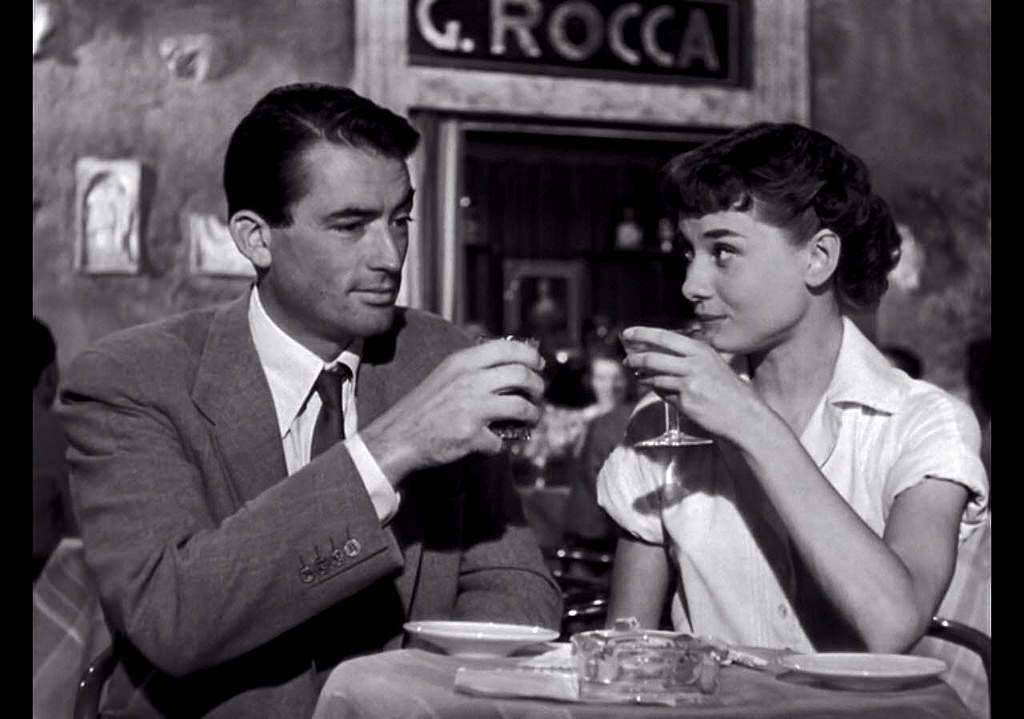 Roman Holiday Dinner Audrey Hepburn Gregory Peck