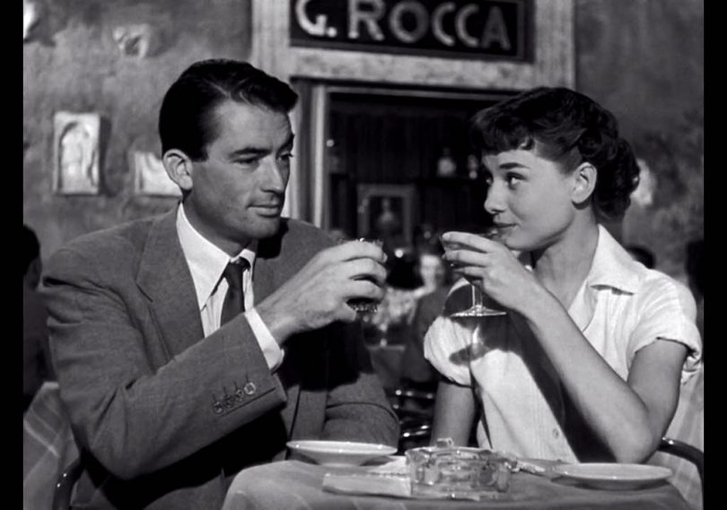 Roman Holiday Dinner Audrey Hepburn Gregory Peck